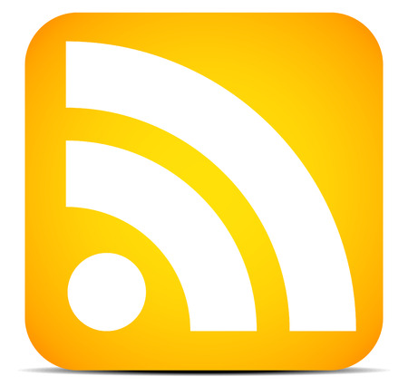 syndication: Modern plana RSS Icon Vectores