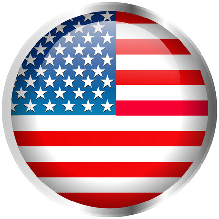 independance day: USA Flag Badge Illustration