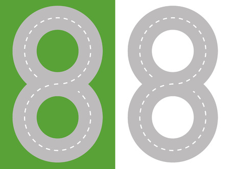 ring road: Road abstract Illustration