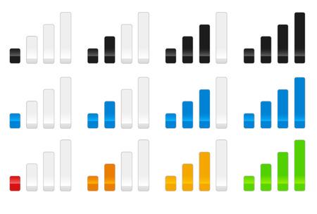 mobil: Signaalsterkte Stock Illustratie