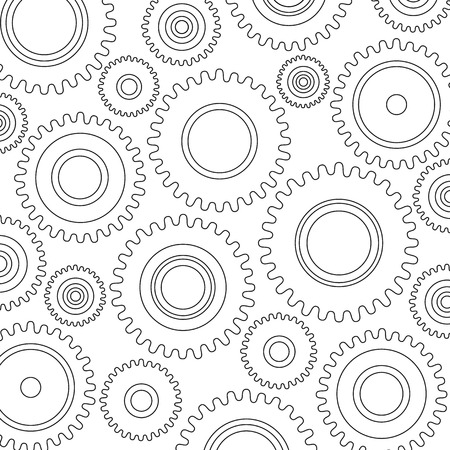 Gears Background, Gears Pattern - Industrial, machinery, factory, clockwork, mechanic background  Production, engineering, development, construction-building concepts Vector