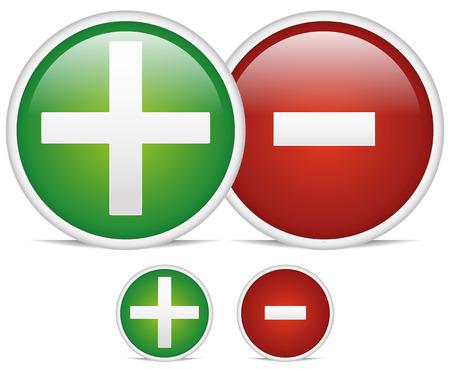 Plus, minus sign design elements Stock Vector - 22770665