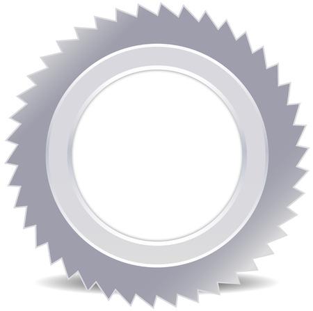 box cutter: Hoja de sierra - sierra circular, corte, corte, acero inoxidable, madera, fabricaci�n, carpinter�a, bricolaje, herramienta aislada, nitidez Vectores