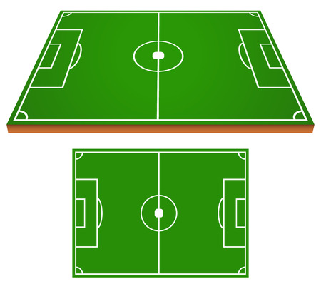 Soccer field layout Vector