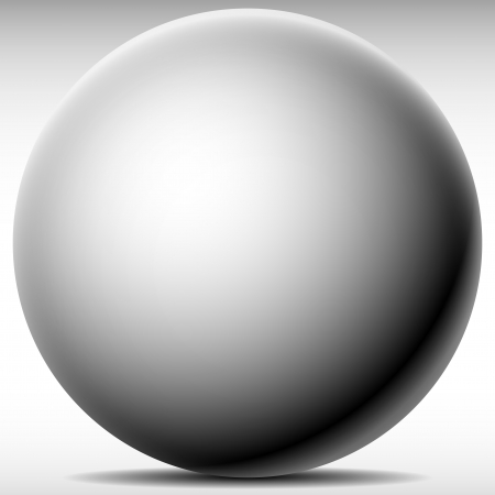 Shaded 3d sphere Vector