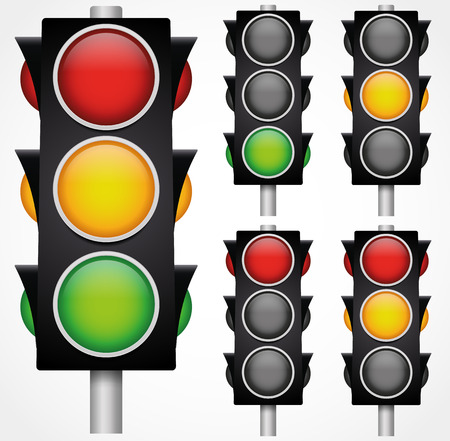Traffic lights  signals Vector