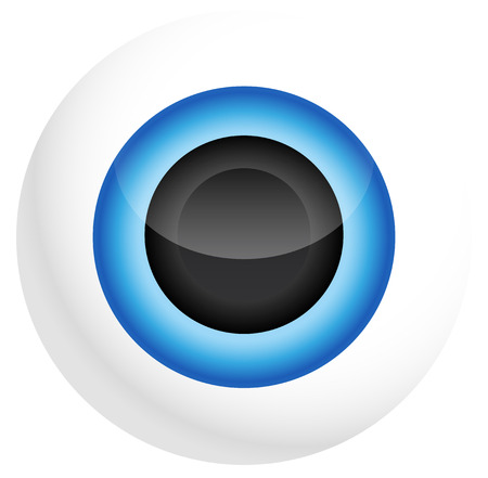 Eye Illustration - Optics, Vision, Eye-care, Eye health, Blue eye, Pupil, Eye Icon, Iris, Eyeball, 3d eye, Eye close-up Vector