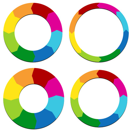 Circular Arrows set, Presentation templates for visualization, steps, phases, strategy, planning.