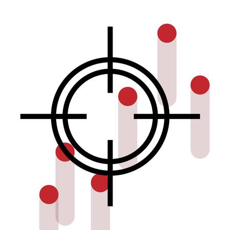 Cross Hair with bleeding gun shot holes  Vector