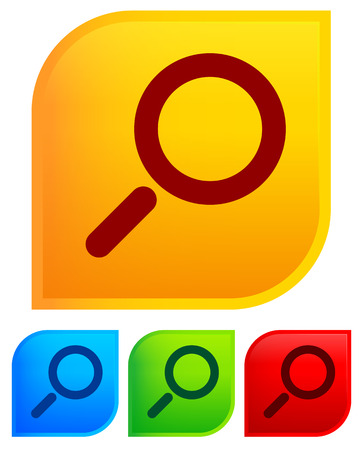 glas: Magnifier magnifying glass icons with background