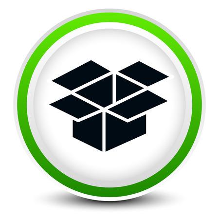 installateur: Open doos grafische op cirkel ontwerp voor verwante concepten