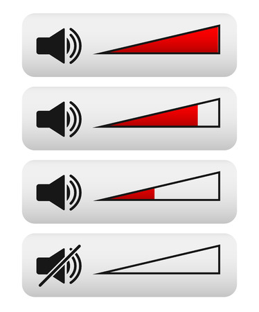 Volume control, Digital Volume knobs. adjust opacity mask to set volume level Vector