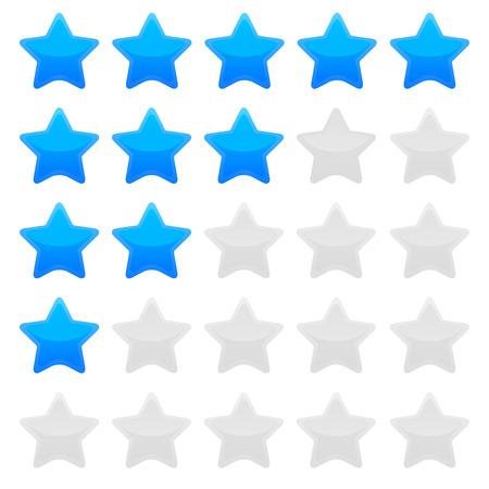 mensuration: Modifiable mod�le �toile de notation de couleur bleu