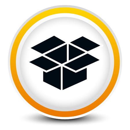 installateur: Open doos graphic op cirkel ontwerp voor verwante concepten