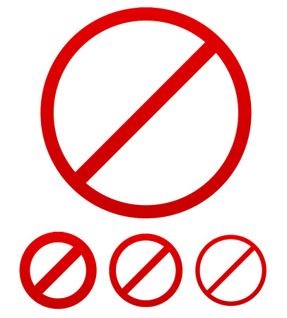 Prohibition, no permission sign stock graphic. Vector