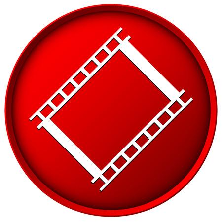 red sphere: Icona rossa pellicola sfera con ombreggiatura e struttura