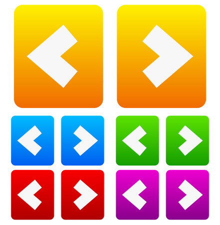 arrowheads: Arrow buttons with bold arrowheads