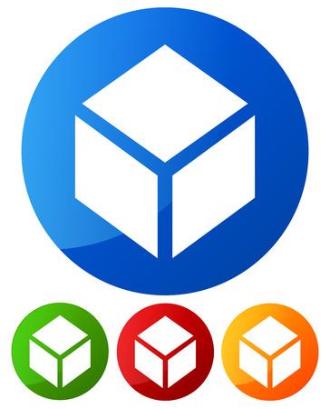 Conceptual box icon Vector
