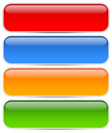 Glossy, modern web banners Illusztráció