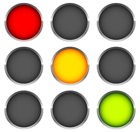 Traffic lights, signals  Control, traffic lamps Vector