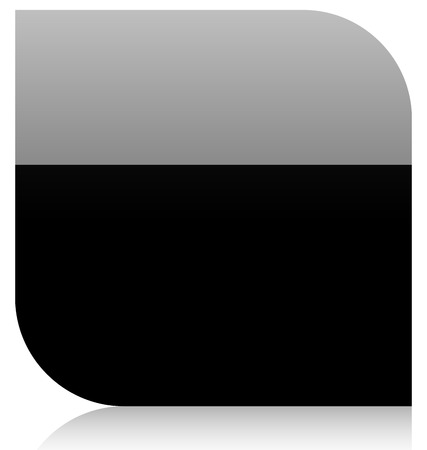 Black shape  Empty banner, background in vector format Vector