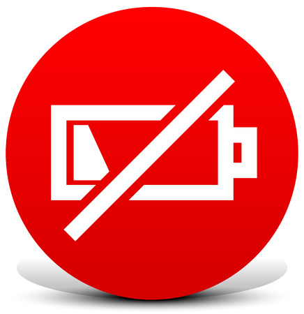 Battery low image  Vector