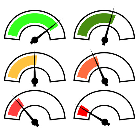Vector gauges, meters Illustration