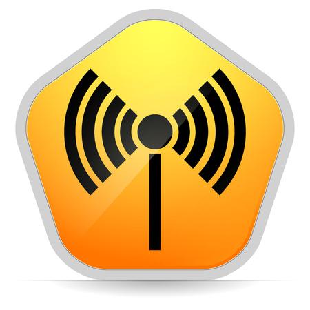 wireless connection: Radio tower, radio transmission, wireless connection, antenna, transmitter icons vector elements. Illustration