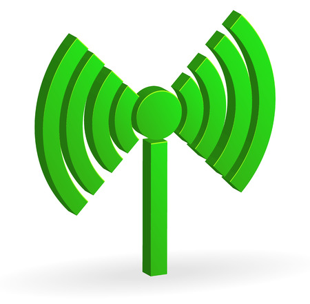 transmitting: Radio tower, radio transmission, wireless connection, antenna, transmitter icons vector elements. Illustration