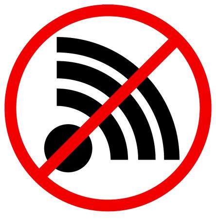 Pas de signal, aucun signe de connexion Banque d'images - 28501335