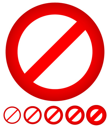 do not touch: Red strikethrough notice - Sign of prohibition, denial and restriction Illustration