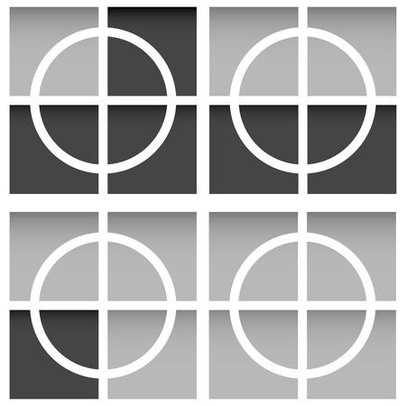 Crosshair, firearms reticle Vector