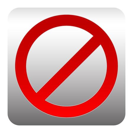 tachado: Aviso tachado Red - Se�al de prohibici�n, la negaci�n y la restricci�n
