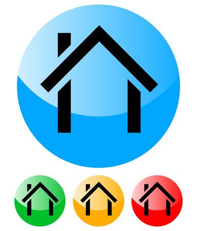 근교: 집 아이콘 - 홈, 집, 건물, 건축 - 도시, 교외 벡터