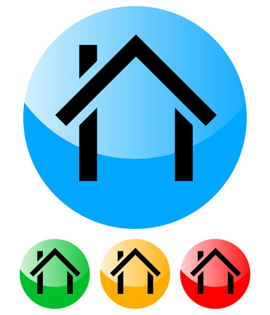 House Icons - Home, House, Building, Architecture - urban, suburb vector Illustration