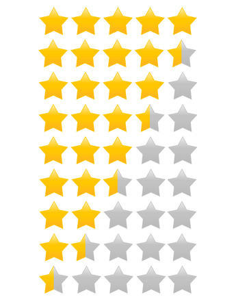 Star rating with half star increment