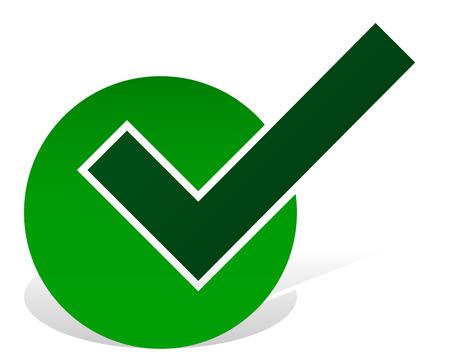 Green tick - Approve - Accept - Correct Icon Illustration