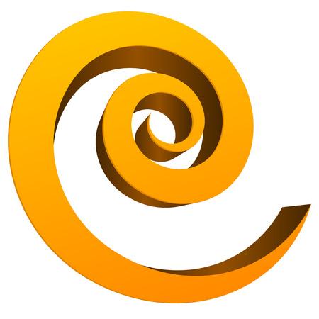 3D Spiral design element - spiral, vortex, flow, cyclic  Illustration