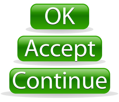 accept: Ok, accept, continue buttons