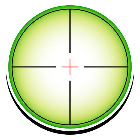 backsight: Conceptual reticle icon. Illustration