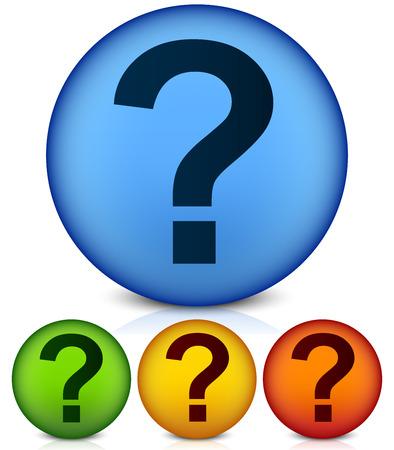 punctuation mark: Signo de interrogaci�n concurso, criba, pregunta, Puntuacion, para hacer ilustraci�n vectorial Vectores