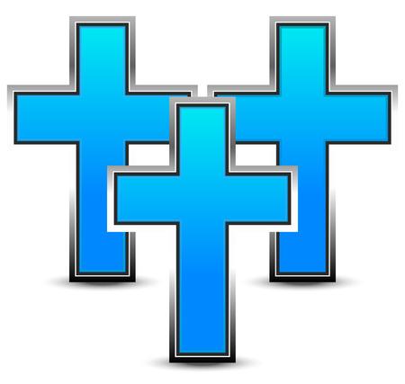 Surreal blue crosses Vector