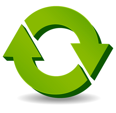 3d refresh, recycle arrows. Swapping, interchanging.