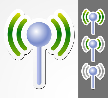emitter: Antenne graphics with signal strength Illustration