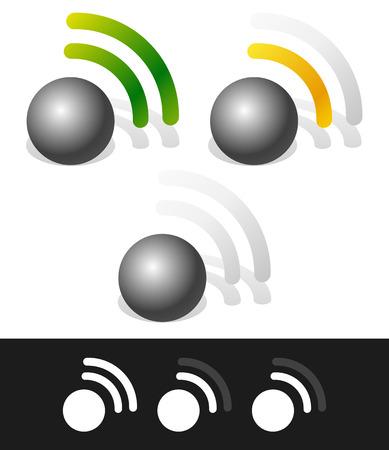 satellite transmitter: Signal strength indicators