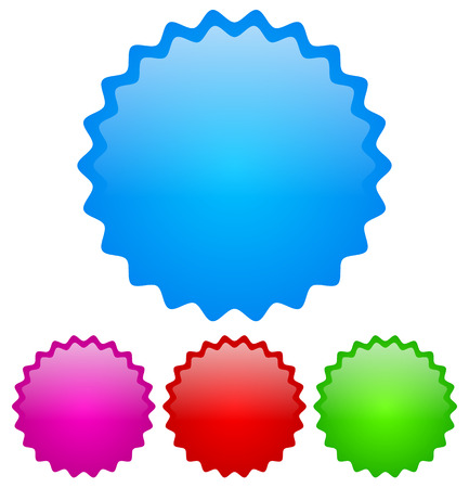 Glossy badge set Vector