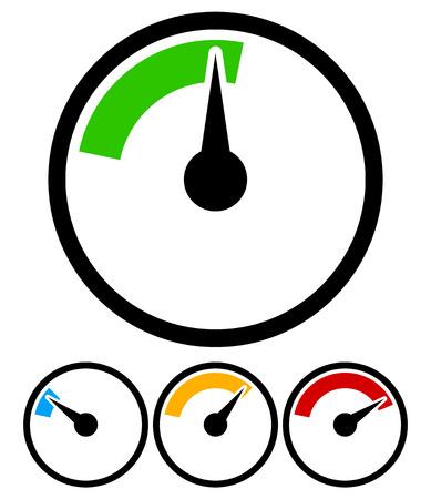 Manometer, Wahlschablone Vektorgrafik
