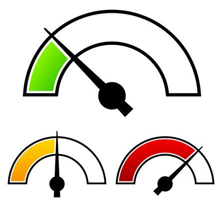 圧力計、ダイヤル テンプレート  イラスト・ベクター素材