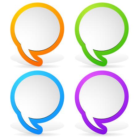 Colorful speech bubble design elements Vector