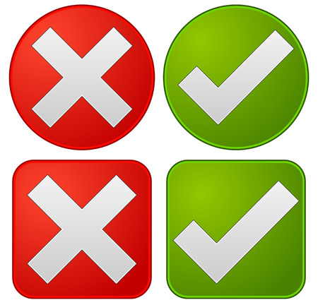 reject:  Checkmark and cross Illustration